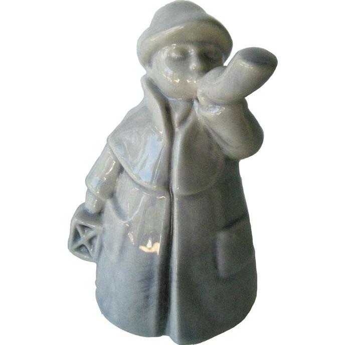 Grey Goebel Town Crier Made in West Germany - Goebel Ceramic Boy - Collectible Figurine - Hummel Figurine
