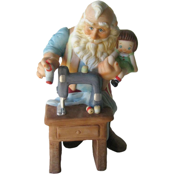 Hallmark The Toymaker Stitched With Love Christmas Figure - Holiday Porcelain Figurine - Holiday Decor - Limited Edition Hallmark Figurine