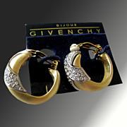 Dramatic Vintage Givenchy Bijoux Rhinestone Earrings
