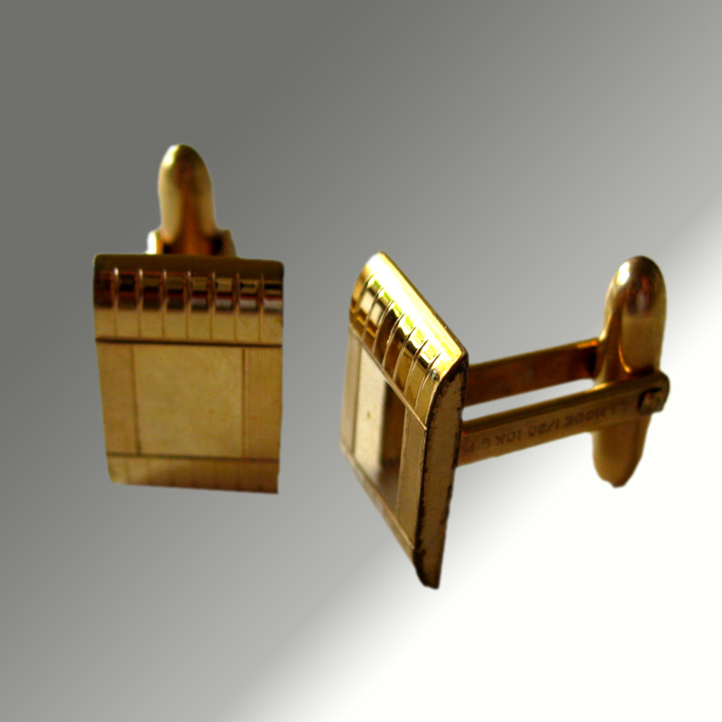 Vintage Lamode 1/20th 10k Gold Filled Cuff Links