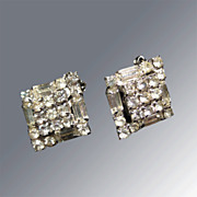 Rhinestone Earrings Great Vintage Wedding Jewelry or Party Fashion