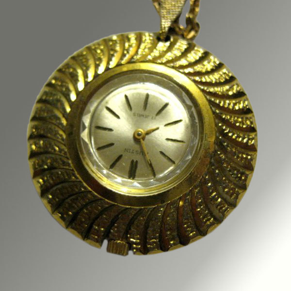 Austin Pendant Watch 17 Jewels Necklace Mid Century Design Mechanical Wind Up Watch Working Condition