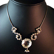 Large Crystal and Rhinestone Vintage Necklace