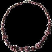 Art Deco Glass Beaded Necklace
