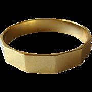 Monet Bangle Bracelet / Vintage Jewelry / 1960s Bracelet / Hinged Bracelet / New Old Stock