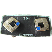 Art Deco Snap Link Cuff Links On Original Card - Kum A Part Cufflinks - Mens Fashion - Mens Gift - Fathers Day Gift