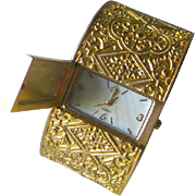 Byzantine Style Watch Clamper Bracelet - Tori Spelling Working Watch Bracelet - Womens Watch - Wide Clamper Watch