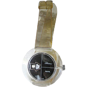 Lucerne Lucite Digital Watch In Working Condition - Mid Century Mechanical Watch - Skeleton Watch - Wind Up Watch