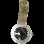 Lucerne Lucite Digital Watch In Working Condition - Mid Century Mechanical Watch - Skeleton Watch - Wind Up Watch