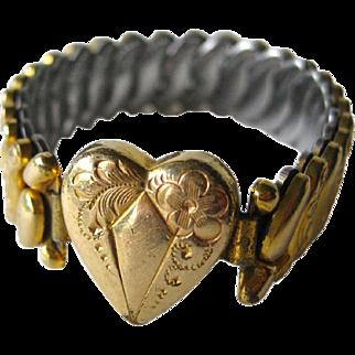 Childs Expansion Bracelet - Co Star Expansion Bracelet - 12K Gold Filled Expansion Bracelet - Sweetheart Jewelry - 1940s Bracelet