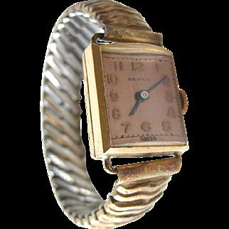 Reyco 17 Jewel Mechanical Watch - 12 K Gold Plated Watch - Reynolds Swiss Watch