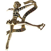 Ice Capades Brooch - Figure Skating Pin - Figural Pin - Collectible Brooch - Ice Skating Brooch