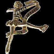 Ice Capades Brooch - Figure Skating Pin - Figural Pin - Collectible Brooch - Ice Skating Brooch