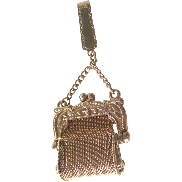 Miniature Mesh Purse with Fold Over Clip - Miniature Handbag