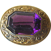 Amethyst Victorian Pin - Vintage Jewelry - Estate Jewelry - Vintage Brooch