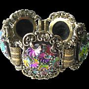 Judy Lee Molded Glass Bracelet - Vintage Bracelet - Signed Bracelet - Designer Bracelet