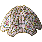 Pink Enamel Belt Buckle With Roses - Elegant Buckle - Pink Enamel Jewelry - Victorian Era Belt Buckle