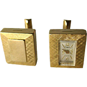 Sheffield Mechanical Watch Link Cuff Links In Working Condition In Original Presentation Box - Mens Fashion - Mens Gift - Fathers Day Gift