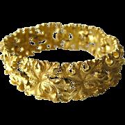 Crown Trifari Leaf Bracelet - Vintage Costume Jewellery Bracelet - Designer Jewelry - Vintage Trifari