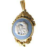 Blue Wedgewood Scenic Pendant Made in England - Jasperware Jewelry - Estate Jewellery - Wedgewood Porcelain - Wedgewood Jewelry