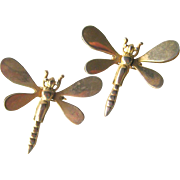 Dragonfly Sweater Clips - Vintage Sweater Clip - Dress Clip - Dragonfly Coat Clips - Dragonfly Pins