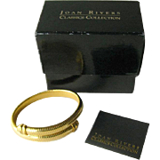 Joan Rivers Omega Coil Bracelet in Original Box - Joan Rivers Signed Bracelet