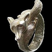 Fox Hinged Bracelet - Character Cuff Bracelet - Costume Jewellery