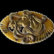 Bakelite Horse Pin - Vintage Bakelite Brooch - Equestrian Brooch