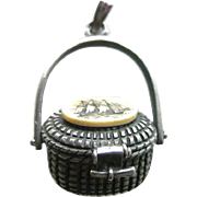 Nantucket Basket Charm - Douchette Creations Pendant - Charm Necklace