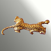 Pouncing Leopard Pin