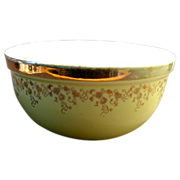 Vintage Hall Mixing Bowl Yellow Gold Accent Mid Century Home Decor
