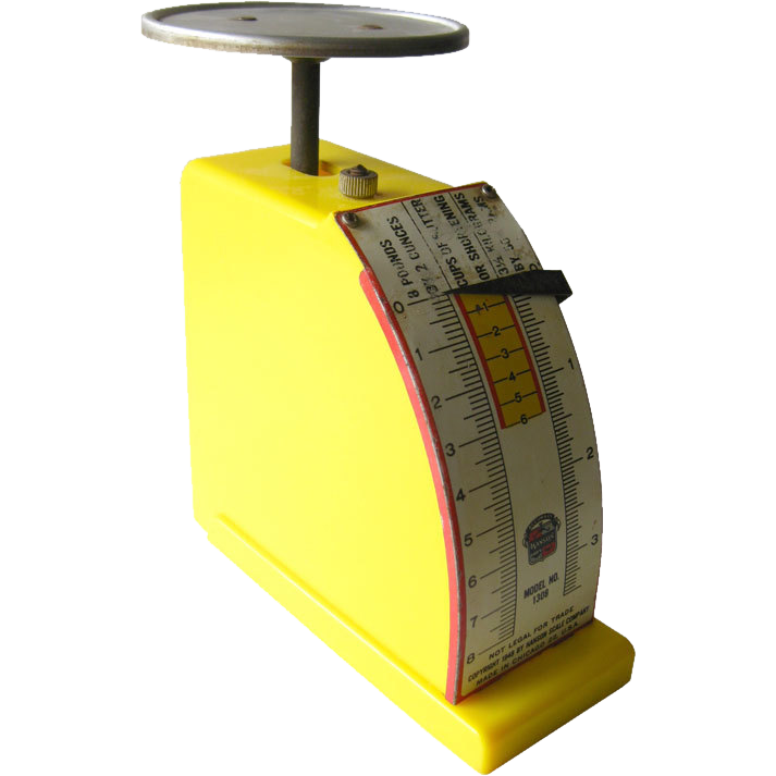 Hanson Yellow Kitchen Scale Model 1308 / Hanson Scale / 1940s
