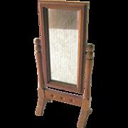 Cheval Mirror Vintage Miniature Doll House / Dollhouse Furniture / Miniature Furniture / Dollhouse Mirror / Miniature Mirror