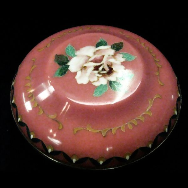 Japanese Cloisonne Rose Box