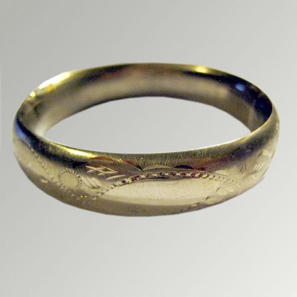 Engraved Sterling Bangle Bracelet