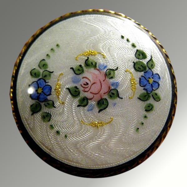 Delicate Guilloche Floral Pin