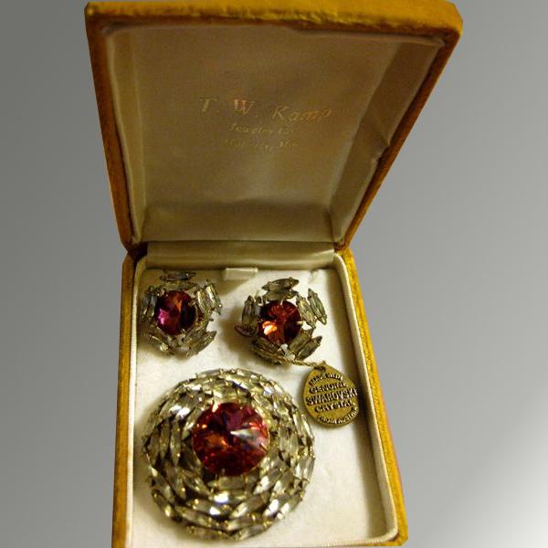 Vintage Swarovski Crystal Demi Parure - Boxed with Tag
