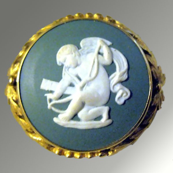 Wedgwood Blue Jasper Cameo in Presentation Box