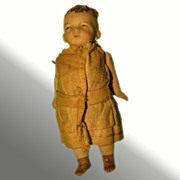 "5"" German Bisque Doll with Pinned Joints"