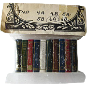 Miniature Dollhouse Book Collection in Original Wrapping / Dollhouse Library / Doll House Books / Miniature Books