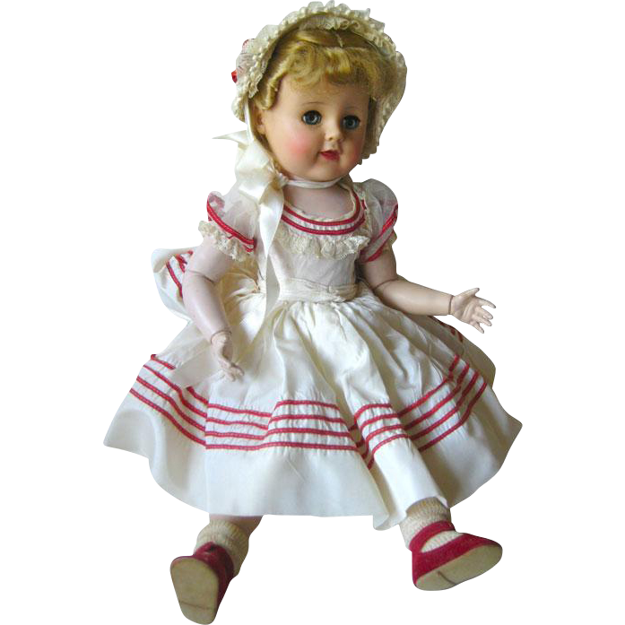 Madeline Madame Alexander 18 Inch Ball Jointed Doll In Original Clothes / Articulated Arms and Legs / Vintage Doll