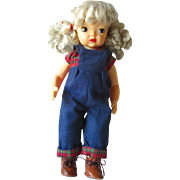 Terri Lee 16 Inch Vintage Doll With Platinum Blonde Hair / Hard Plastic Doll