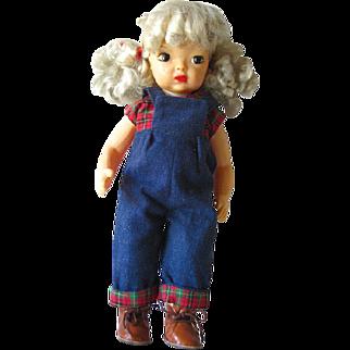 Terri Lee 16 Inch Vintage Doll With Platinum Blonde Hair / Hard Plastic Doll