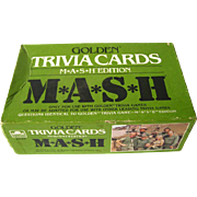 MASH Television Show Golden Trivia Card Game 1980s - Trivial Pursuit Game - Family Night Game - Party Game
