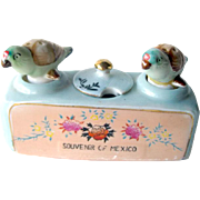 Mexico souvenir Nodder Shaker and Mustard Set - Bird Salt and Pepper Shakers - Housewarming Gift - Salt Shaker Set - Couples Gift