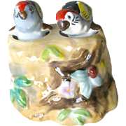 Vintage Nodder Shaker Set Parrots In a Tree - Figural Salt and Pepper Shakers - Housewarming Gift - Salt Shaker Set - Couples Gift
