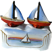 Sailboat Nodder Shaker Set - Nautical Salt and Pepper Shakers - Housewarming Gift - Salt Shaker Set - Beach House - Sail Boat Shakers