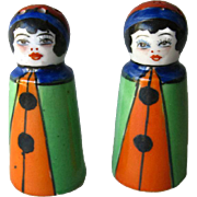Clown Shaker Set In Original Box - Japan Clown Salt and Pepper Shakers - Housewarming Gift - Salt Shaker Set - Jester Shakers