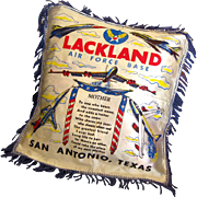 Lackland Air Force Base Pillow Cover Vintage Military Gift - Vintage Home Decor - Mother Poem Pillow Sham - Decorative Pillow Case