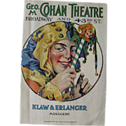 Cohans Theater 1920s Program / Playbill / Paper Ephemera / Advertising / New York Memorabilia / Scrapbooking / Vintage Advertising